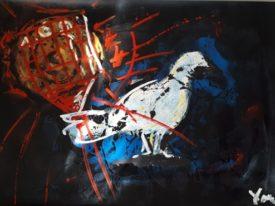 Yago, Untitled 110, 1997-2003, acrylic on paper, 100×70, 110