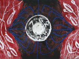Yago, Untitled 119back, 1997-2003, acrylic on paper, 100×70, 119back