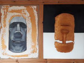 Yago, Untitled 148, 1997-2003, acrylic and sand on canvas, 150×100, 148
