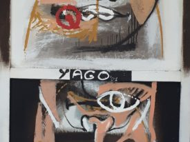 Yago, Untitled 157back, 1997-2003, acrylic on canvas, 80×120, 157back