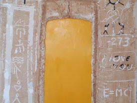 Yago, Untitled 158, 1997-2003, acrylic and sand on canvas, 100×120, 158