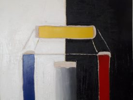 Yago, Untitled 163, 1997-2003, acrylic and sand on canvas, 100×120, 163