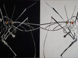 Yago, Untitled 167, 1997-2003, acrylic and sand on canvas, 170(x2)x155, 167