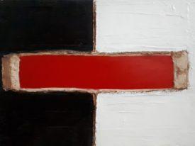 Yago, Untitled 168, 1997-2003, acrylic and sand on canvas, 70×50, 168