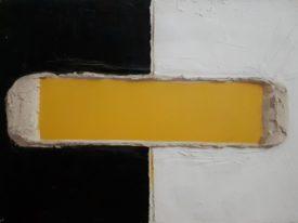 Yago, Untitled 169, 1997-2003, acrylic and sand on canvas, 70×50, 169