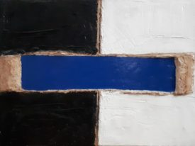 Yago, Untitled 170, 1997-2003, acrylic and sand on canvas, 70×50, 170