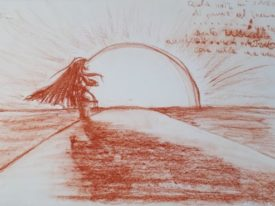 Yago, Untitled 172back, 1997-2003, drawing on paper, 48×33, 172back