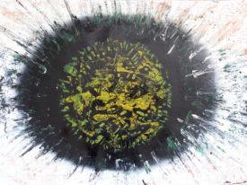 Yago, Untitled 19, 1997-2003, varnish on paper, 70×50, 19