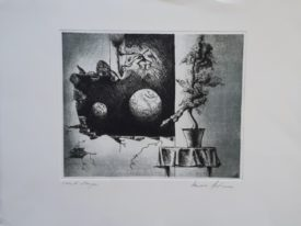 Yago, Untitled 239, 1997-2003, engraving on paper, 50×35, 239