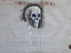 Yago, My eyes, 1997-2003, drawing on paper, 50×70, 34back