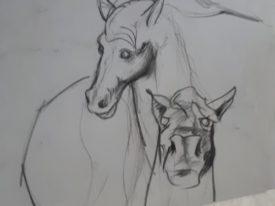 Yago, Untitled 09back, 1997-2003, drawing on paper, 70×50, 09back