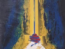 Yago, Untitled 149, 1997-2003, acrylic on canvas, 40×85, 149