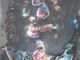 Yago, Untitled 150back, 1997-2003, acrylic on wood, 58×134, 150back