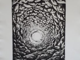 Yago, When the stone broke, 1999, engraving on paper, 50×70, 215