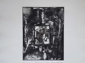 Yago, Untitled 222, 2000, engraving on paper, 50×70, 222