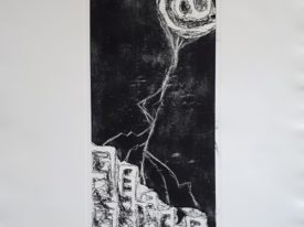 Yago, City of fire resist!, 2000, engraving on paper, 50×70, 229