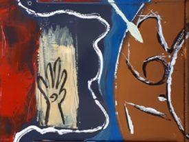 Yago, Untitled 274, 1997-2003, acrylic on wood, 58×135, 274