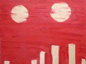 Yago, Untitled 275back, 1997-2003, acrylic on wood, 40×50, 275back