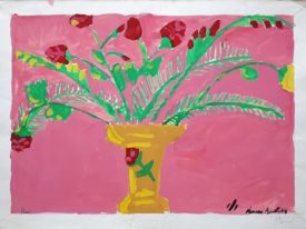 Yago, Flowers, 1983, tempera on paper, 50X35, 311